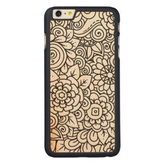 Floral Retro Doodle Carved® Maple iPhone 6 Plus Case