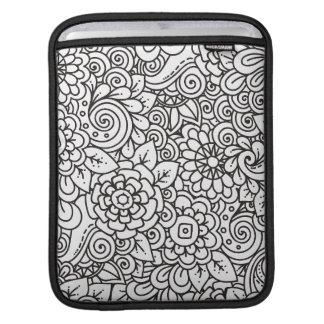 Floral Retro Doodle iPad Sleeve