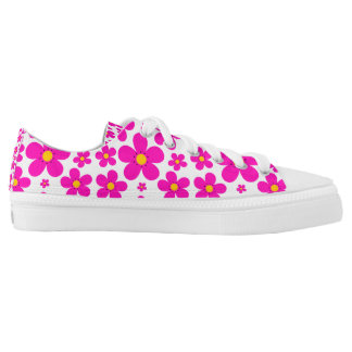 floral retro pattern low tops