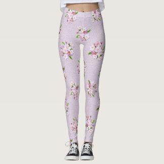 Floral retro spring  pattern. leggings
