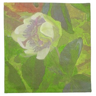 Floral Rhapsody in Green Napkin