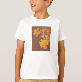 Floral Rhapsody In Orange and Yellow Tee Shirt