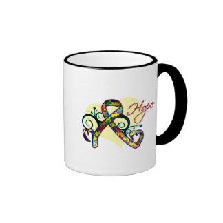 Floral Ribbon Hope - Autism Ringer Mug