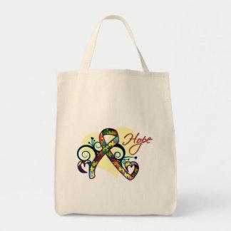 Floral Ribbon Hope - Autism Tote Bag