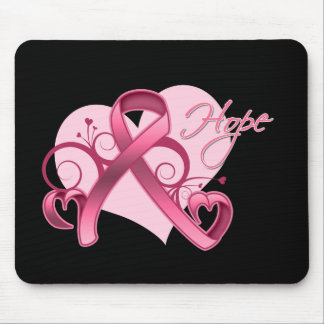 Floral Ribbon Hope - Breast Cancer Mouse Mat