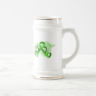 Floral Ribbon Hope - Lyme Disease Beer Steins