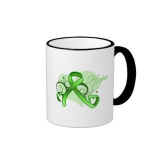 Floral Ribbon Hope - Lyme Disease Ringer Mug