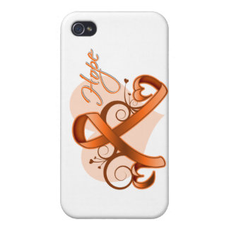 Floral Ribbon Hope - Multiple Sclerosis iPhone 4/4S Covers