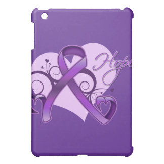 Floral Ribbon Hope - Pancreatic Cancer iPad Mini Covers