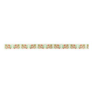 Floral Ribbon Satin Ribbon