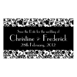 Floral Rococo Wedding, save the date mini cards Business Card Templates