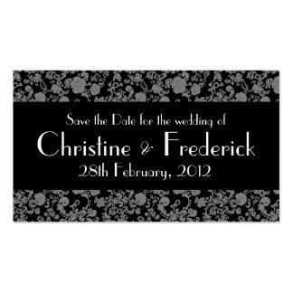 Floral Rococo Wedding, save the date mini cards Business Card