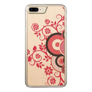 Floral romantic  2 carved iPhone 8 plus/7 plus case