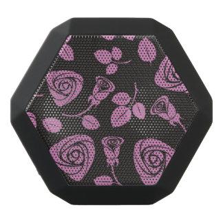 Floral Rose Background Black Bluetooth Speaker