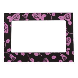 Floral Rose Background Magnetic Photo Frames