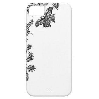 Floral rose branch butterfly silhouette iPhone 5 Case For The iPhone 5
