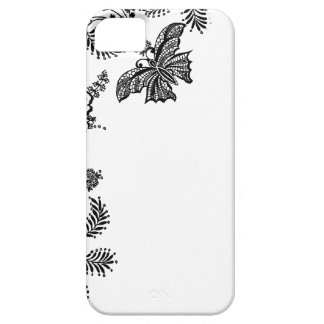 Floral rose branch butterfly silhouette iPhone 5 iPhone 5 Cover
