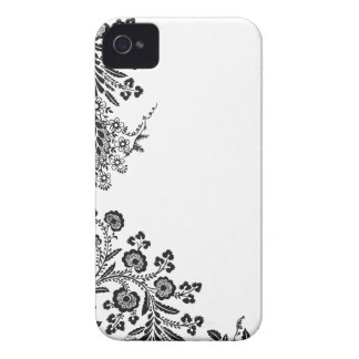 Floral rose branch silhouette iPhone 4S case cover