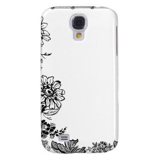Floral rose branch silhouette iPhone case skin Galaxy S4 Case