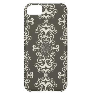 Floral rose damask swirl wallpaper pattern case iPhone 5C cases