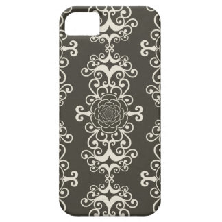 Floral rose damask swirl wallpaper pattern case iPhone 5 cover