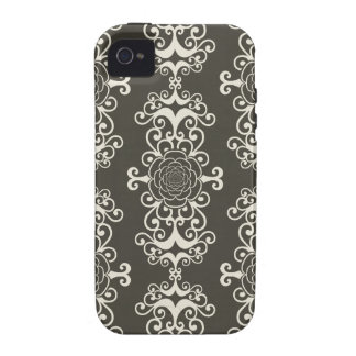 Floral rose damask swirl wallpaper pattern case vibe iPhone 4 cases