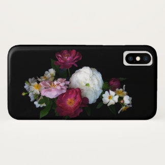 Floral Rose Garden Antique Flowers iPhone X Case