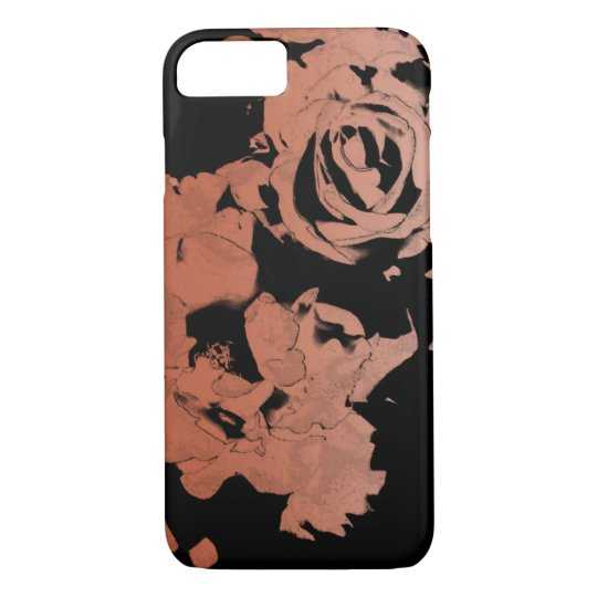 Floral Rose Gold iPhone Case