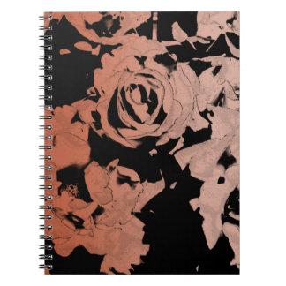 Floral Rose Gold Notebook