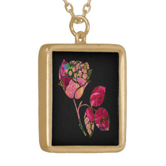 Floral Rose Motif Necklace
