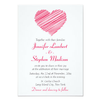 Floral Rose Wreath Pink Red Flower Love Wedding 13 Cm X 18 Cm Invitation Card