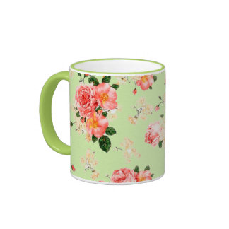 Floral Roses Ringer Mug