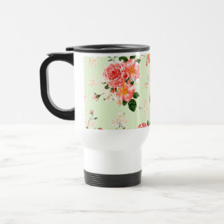 Floral Roses Stainless Steel Travel Mug