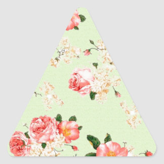 Floral Roses Triangle Sticker