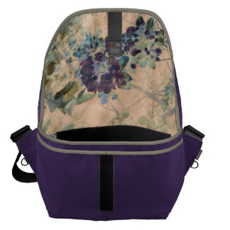 Floral Rustic Cottage Chic Messenger Bag