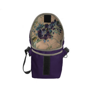 Floral Rustic Cottage Chic Messenger Bags