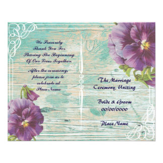 floral rustic wedding program 11.5 cm x 14 cm flyer