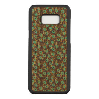 Floral Samsung Galaxy S8+ Slim Cherry Wood Case