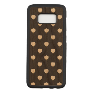 Floral Samsung Galaxy S8 Slim Cherry Wood Case