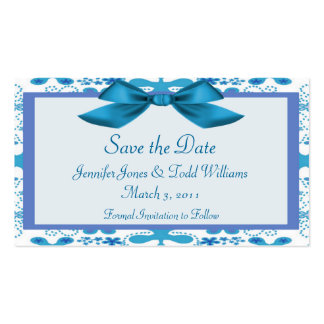 Floral Save the Date Business Card Templates