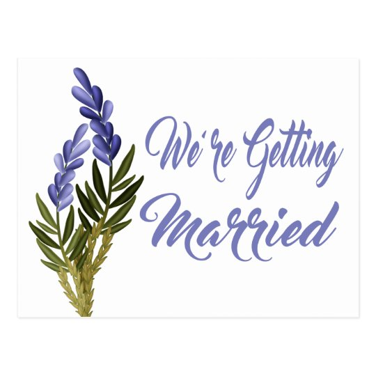 Floral Save The Date Lavender Purple Wedding Postcard