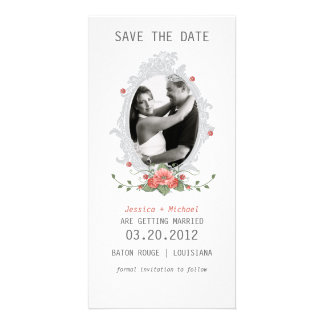 Floral Save the Date Personalized Photo Card