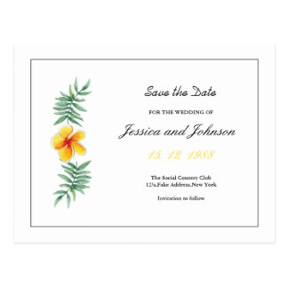 Floral Save the Date PostCard
