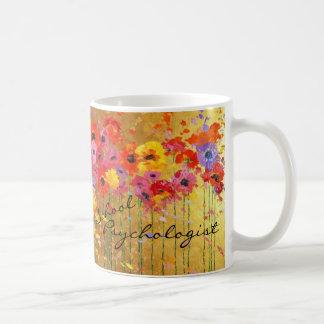 Floral School Psychologist Mug