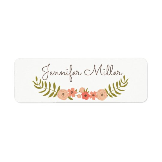 Floral script name labels