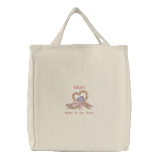 Floral Scroll for Mother Embroidered Bag