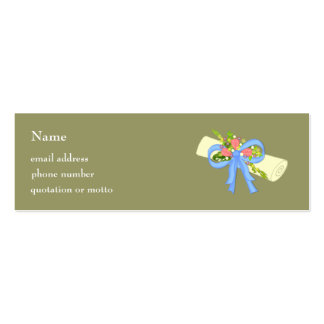 Floral Scroll Graduation or Reunion Card Business Card Templates