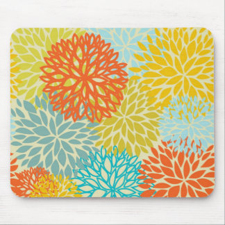 Floral seamless pattern mouse mat