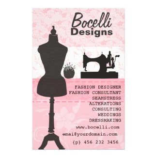 Floral Seamstress Fashion Dress Form Mannequin Flyer