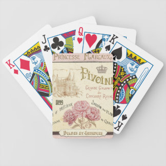 Floral Seed Packet Bicycle Playing Cards